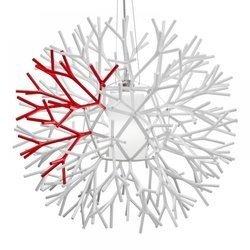 Lampa wisząca CORAL REEF biało czerwona 62 cm (ST-7101-1M) Step into Design - żyrandol