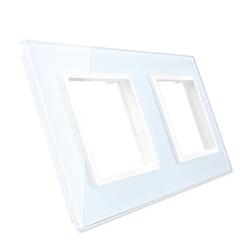 Podwójna ramka szklana w kolorze Białym (GPF-2-61) LIVOLO