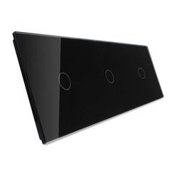 Potrójny czarny panel szklany (70111-62) LIVOLO