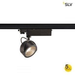 KALU LED Szyna 3f., 3000K, czarna, 24°,3f. adapter