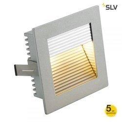 FLAT FRAME CURVE do wbudowania kwadratowa, srebrnoszara, G4, max. 20W