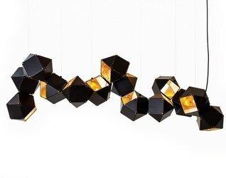 Lampa wisząca NEW GEOMETRY-14 czarno złota 142 cm (ST-8861-14) Step into Design - żyrandol