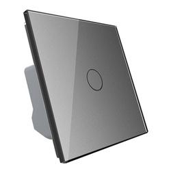 �ciemniacz dotykowy z pojedy�czym srebrnym panelem szklanym (VL-C701D-64) LIVOLO