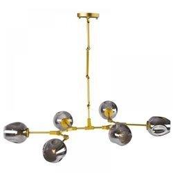 Lampa wisząca MODERN ORCHID-6 złoto szara 130 cm (ST-1232-6-GOLD) Step into Design - żyrandol