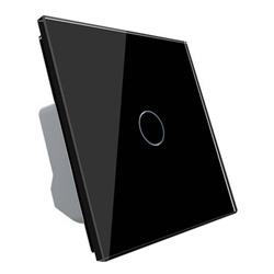 Włącznik pojedynczy dotykowy, bistabilny (impulsowy, dzwonkowy) z czarnym panelem szklanym FIBARO (VL-C701IH-62) LIVOLO