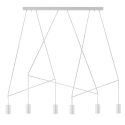 Lampa wisząca IMBRIA WHITE VI listwa (9674) Nowodvorski - żyrandol