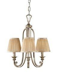 Lampa wisząca  ABBEY kol. SILVER SAND (FE/ABBEY3) - Feiss - Elstead Lighting - żyrandol