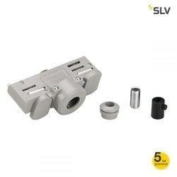 EUTRAC Szyna 3f. adapter, srebrnoszara