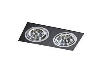 Lampa wpuszczana SIRO 2 black/aluminium (AZ 0772 | GM2200-BK-ALU) - AZZARDO
