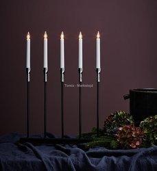 SKOGHALL Metal candlestick 5 Chrome Deco Ozdoba | Lampki