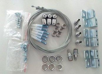Mistic Lighting zestaw Suspennsion Kit 7 Panel LED 30x120 do zawieszania (6 drutów stal. 6 haków) MSTC-05411931