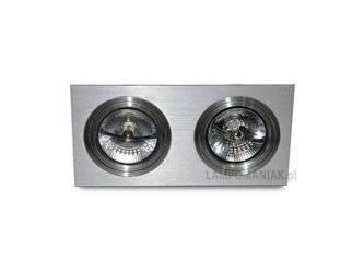 Lampa wpuszczana SIRO 2 aluminium (AZ 0770 | GM2200-ALU) - AZZARDO