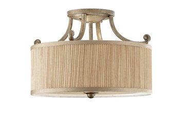Lampa sufitowa ABBEY kol. SILVER SAND (FE/ABBEY/SF) - Feiss - Elstead Lighting