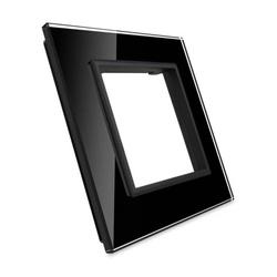 Pojedyncza ramka szklana w kolorze Czarnym (GPF-1-62) LIVOLO