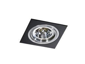 Lampa wpuszczana SIRO 1 black/aluminium (AZ 0769 | GM2101-BK-ALU) - AZZARDO