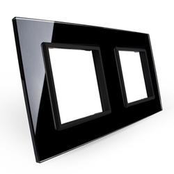 Podwójna ramka szklana w kolorze Czarnym (GPF-2-62) LIVOLO