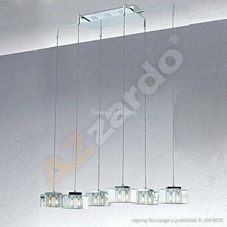 Lampa wisząca BOX 1 chrome/ clear (MP8516-1 Azzardo) - żyrandol